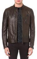Belstaff Kirkham Leather Jacket Sage - Lyst