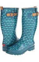 Chooka Striped Dot Rain Boot - Lyst