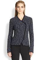 Armani Boucle Knit Jacket - Lyst