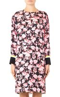 Marni Motion Flowerprint Silk Dress - Lyst