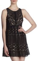 Free People Rocco Keyholeback Lace Dress - Lyst