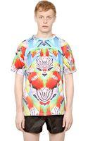 Marcelo Burlon County Of Milan Cotton Jersey Exotic Fish Tshirt - Lyst