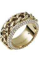 Michael Kors Gldpave Curb Chain Ring - Lyst