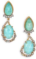 Alexis Bittar Elements Gilded Muse Amazonite  Crystal Clip-on Drop Earrings - Lyst