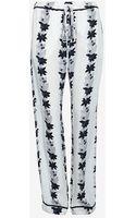 A.L.C. Exclusive Floral Print Silk Drawstring Pant - Lyst