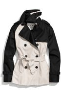 Coach Colorblock Short Trench - Lyst