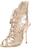 Sophia Webster Lacey Strappy Metallic Sandal - Lyst