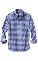 Banana Republic Slim Fit Checkered Utility Shirt Tanzanite Gem - Lyst