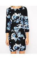 Asos Floral Cut Out Bodyconscious Dress - Lyst