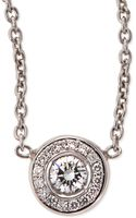 Roberto Coin 18k White Gold Pave Diamond Pendant Necklace - Lyst