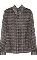 Theyskens' Theory Iareal Printed Silk Shirt - Lyst