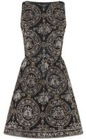 Alice + Olivia Lillyanne Embellished Puff Mini Dress - Lyst