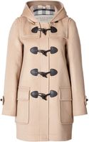 Burberry Brit Wool Minstead Duffle Coat in Camel - Lyst
