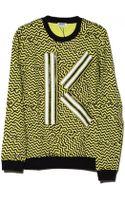 Kenzo Lime K Sweatshirt - Lyst