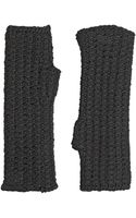 Dolce & Gabbana Wool Knit Fingerless Gloves - Lyst