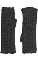 Dolce & Gabbana Wool Knit Fingerless Gloves - Lyst