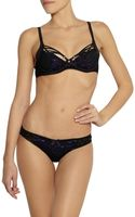 Agent Provocateur Rudy Lace and Silk Underwired Bra - Lyst