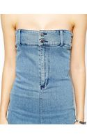 Cheap Monday Denim Bandeau Dress - Lyst