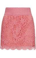 Topshop Crochet Mini Skirt - Lyst