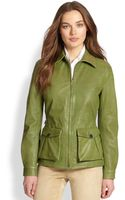 Ralph Lauren Blue Label Leather Valeria Jacket - Lyst