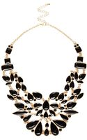 River Island Black Enamel Statement Necklace - Lyst