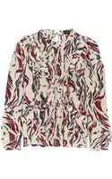 Isabel Marant Samson Printed Silk Blouse - Lyst