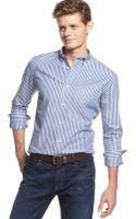 Tommy Hilfiger Bacon Striped Shirt - Lyst