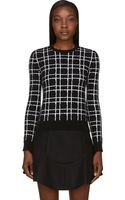 DSquared2 Black and White Angora Grid Sweater - Lyst