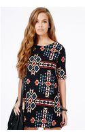 Missguided Aditia Geometric Print Swing Shift Dress - Lyst