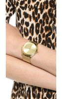 Michael Kors Vintage Glam Slim Runway Watch Gold - Lyst