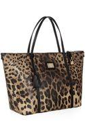 Dolce & Gabbana Escape Leopard Eastwest Tote - Lyst