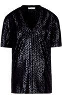 Balenciaga Mini Knit V Neck Top - Lyst