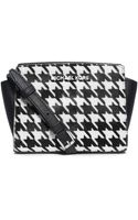 MICHAEL Michael Kors Selma Leather Mini Messenger Bag - Lyst