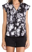 Rebecca Taylor Ghost Flower Print Top - Lyst