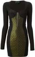 Jean Paul Gaultier Bodycon Quilted Dress - Lyst