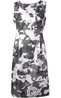 Jil Sander Printed Shift Dress - Lyst