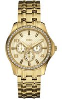 Guess Goldtone Crystal Chronograph Watch - Lyst