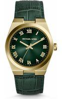Michael Kors Channing Goldtone Stainless Steel Crocodileembossed Leather Strap Watch - Lyst