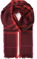 Burberry London Checked Scarf - Lyst