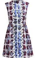 Peter Pilotto Printed Textured Silk Dress - Lyst
