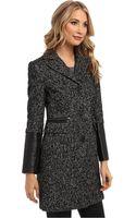 DKNY Tweed Reefer Coat -y4 - Lyst