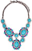 Kenneth Jay Lane Crystal Pavé Strass Drop Necklace - Lyst