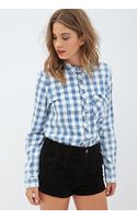 Forever 21 Collared Gingham Shirt - Lyst