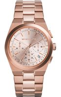 Michael Kors Womens Chronograph Channing Rose Goldtone Stainless Steel Bracelet Watch 38mm - Lyst