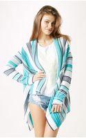 Goddis Open Striped Cardigan - Lyst