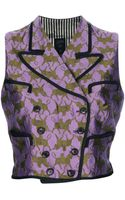 Jean Paul Gaultier Double Breasted Silk Vest - Lyst
