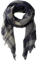 Lauren by Ralph Lauren Asymmetric Oversided Plaid Scarf - Lyst