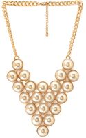 Forever 21 Bubbly Pointed Bib Necklace - Lyst