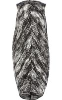 River Island Black and White Print Cocoon Dress - Lyst