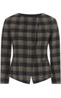 Weekend By Maxmara Checked Double Face Wool Jacket - Lyst